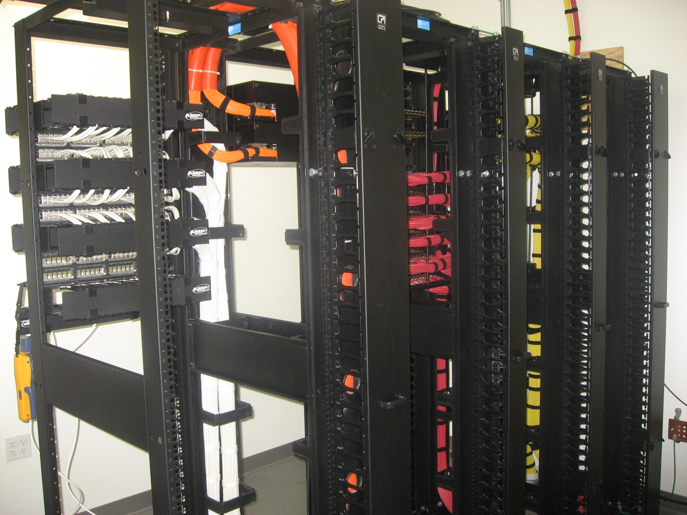 Full CAT 6 Ethernet Racks with Cable Management